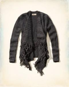 holister fringe blanket sweater