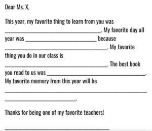 Similar situation. my favourite teacher